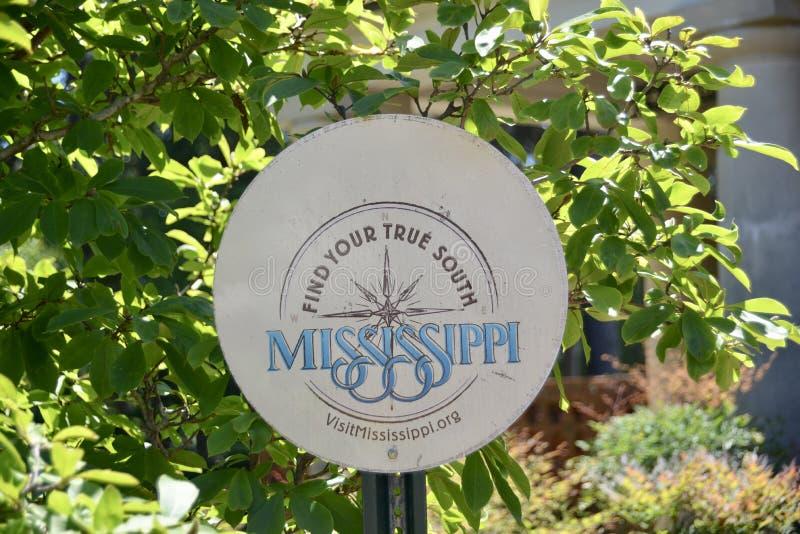 旅游业的密西西比部门 库存图片