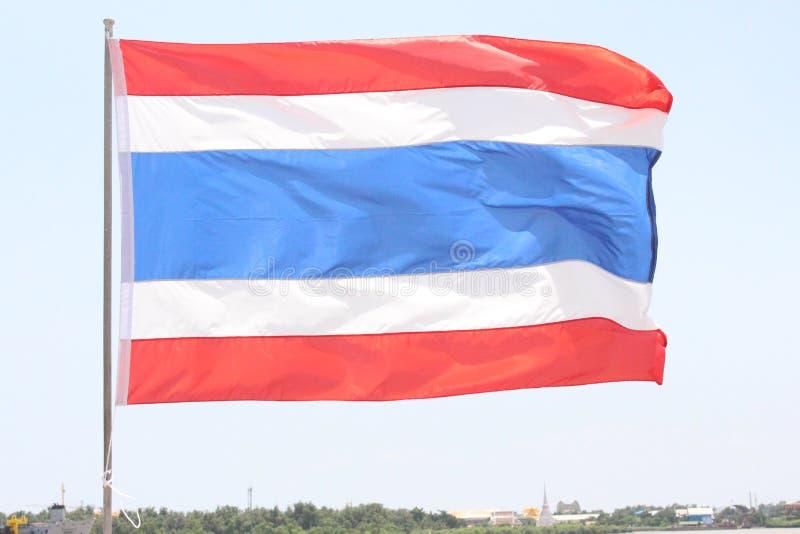 旅游业的泰国旗子在海 免版税库存图片