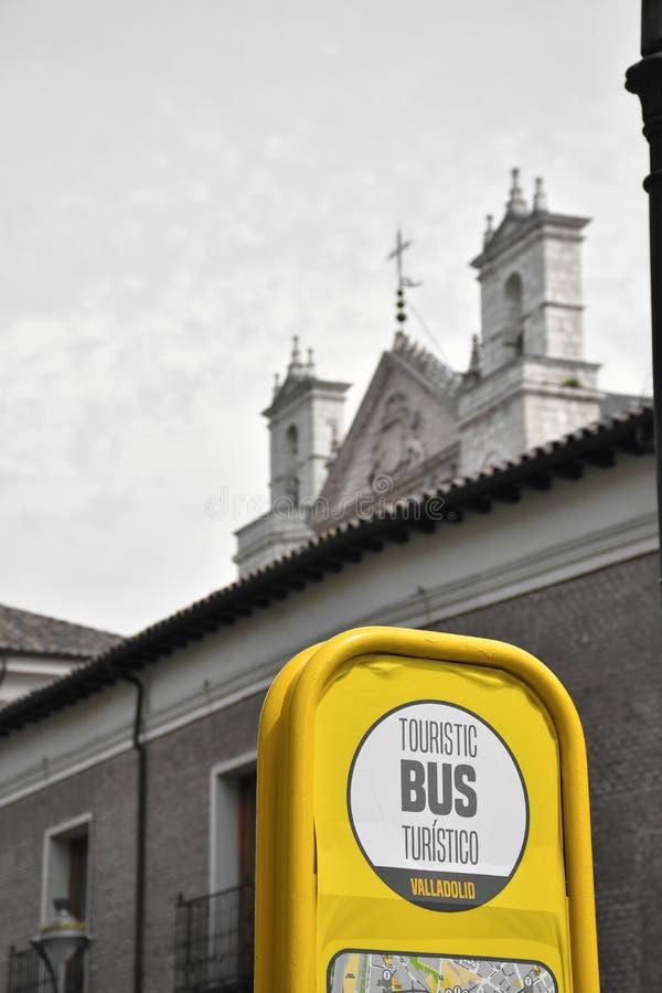 旅游公共汽车公交车站  免版税库存照片