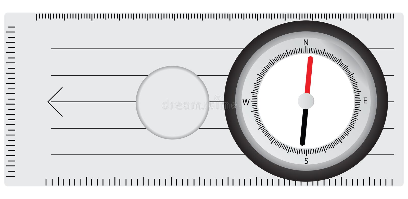 旅游指南针 向量例证