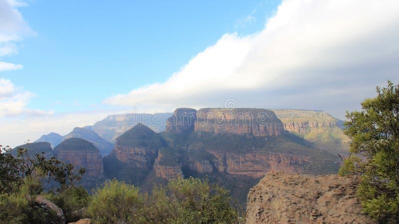 旅游景点 落矶山脉布莱德河峡谷山顶和看法  免版税库存照片