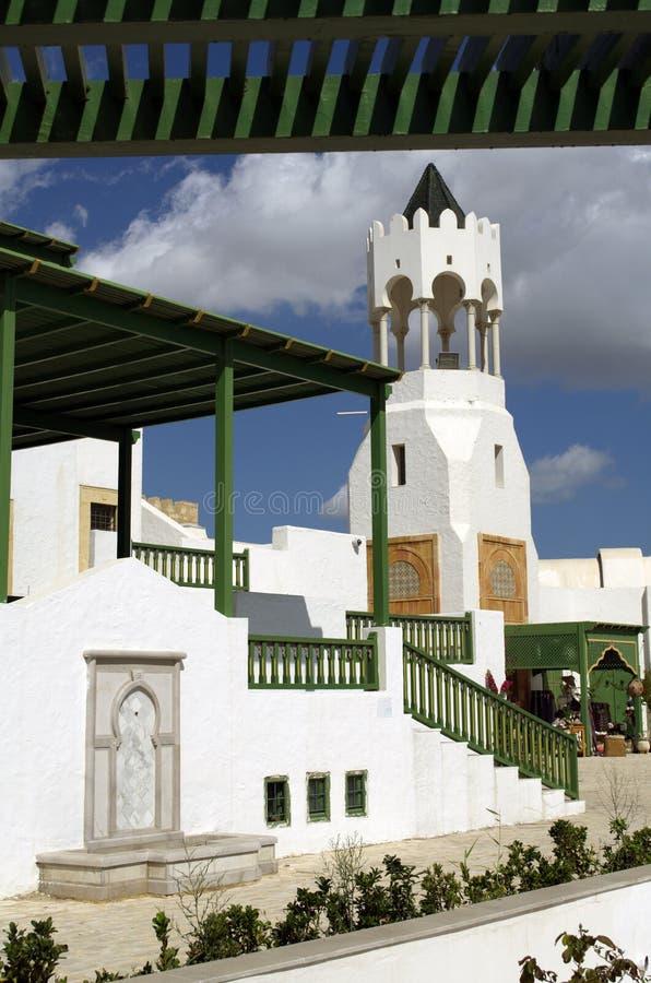 旅游村庄在La Goulette巡航终端在突尼斯 免版税库存照片