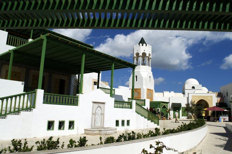 旅游村庄在La Goulette巡航终端在突尼斯 库存图片