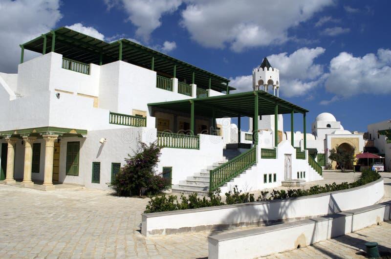 旅游村庄在La Goulette巡航终端在突尼斯 库存照片