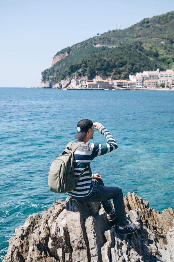 旅游看看Petrovac 库存照片