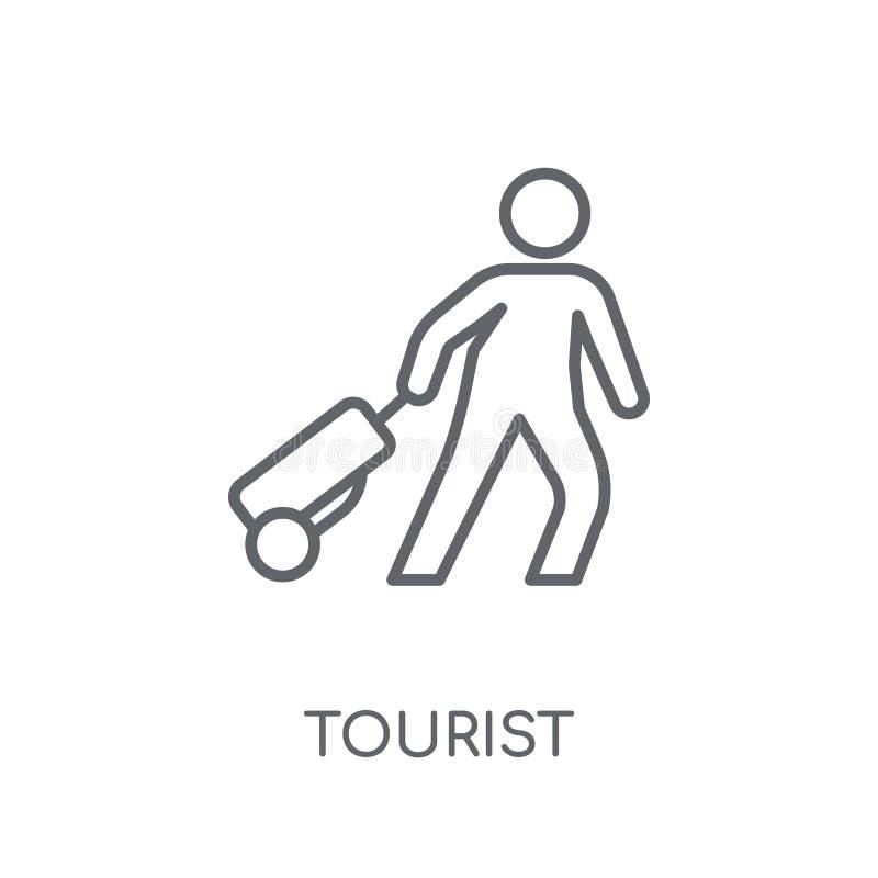 旅游线性象 现代在丝毫的概述旅游商标概念 皇族释放例证