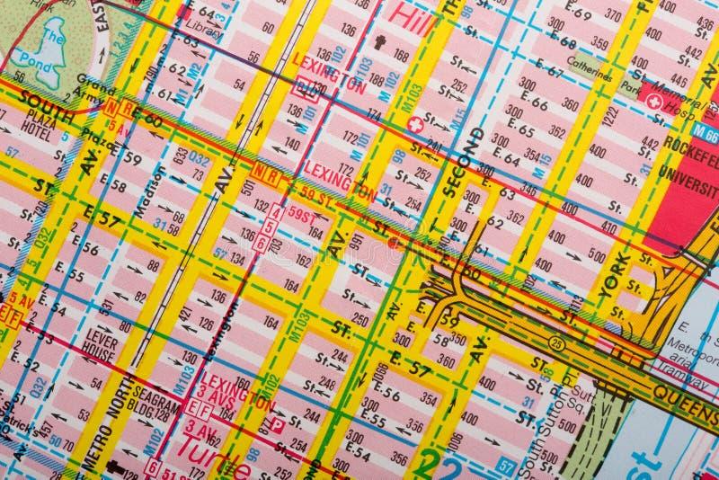 旅游街道地图 免版税库存图片