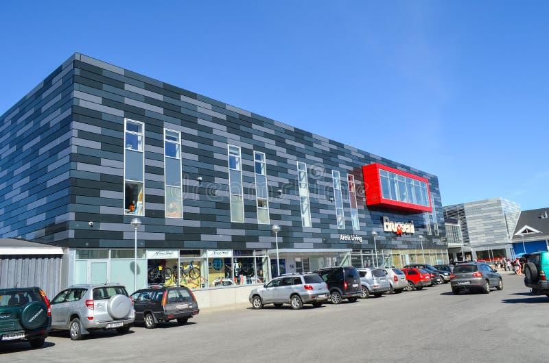旅游观点的努克,格陵兰的首都 免版税图库摄影