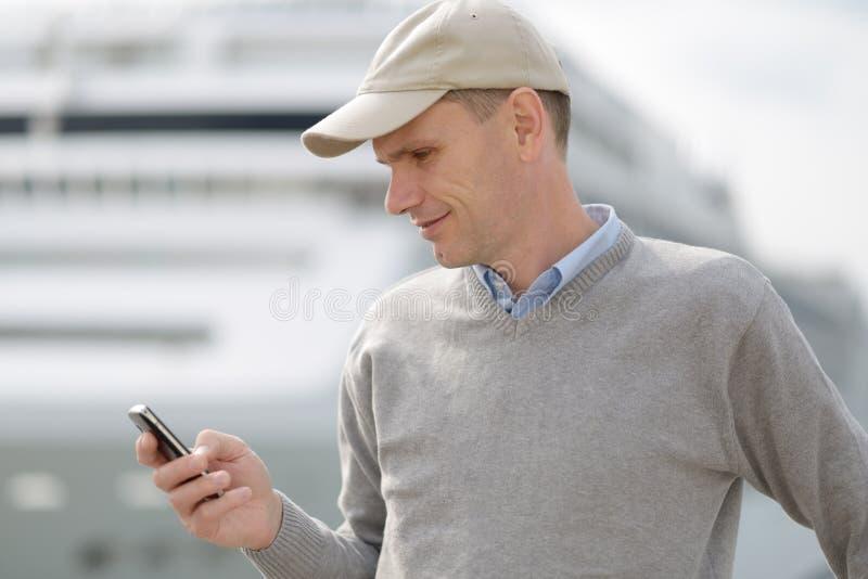 旅游读的SMS 库存照片