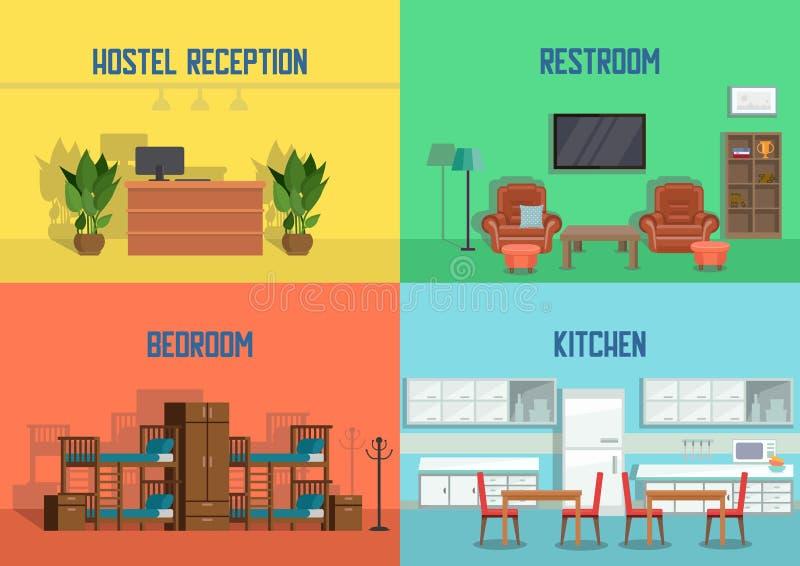 旅舍和房地产服务 向量 库存例证