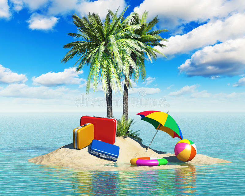 旅行、旅游业和假期概念 库存例证