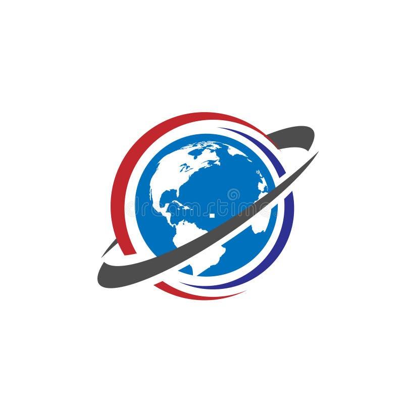 旅行世界商标概念 向量例证
