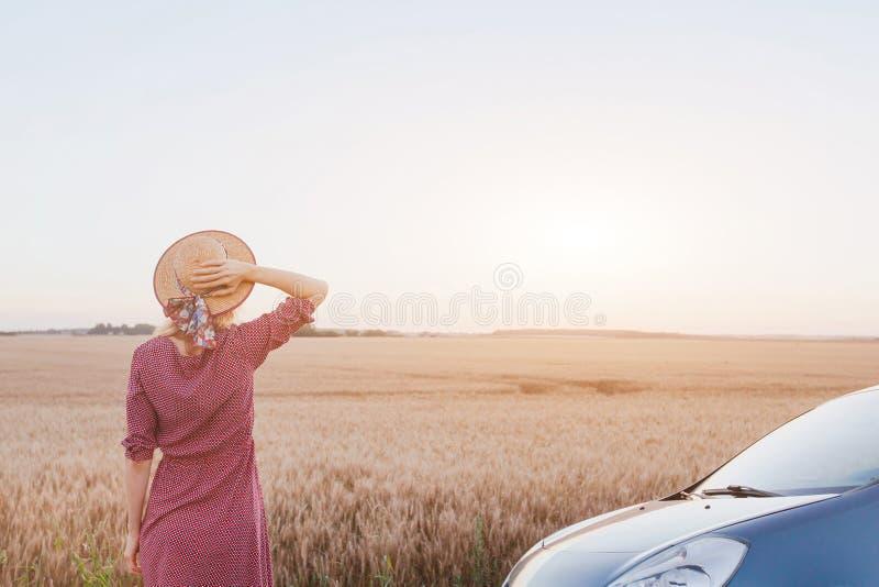 旅行乘汽车,夏天roadtrip 免版税图库摄影