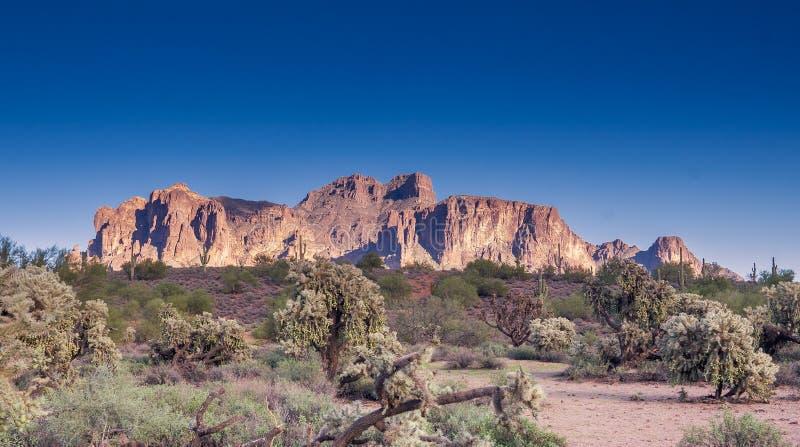 旅行亚利桑那风景沙漠风景旅游业照片,美国 免版税库存照片