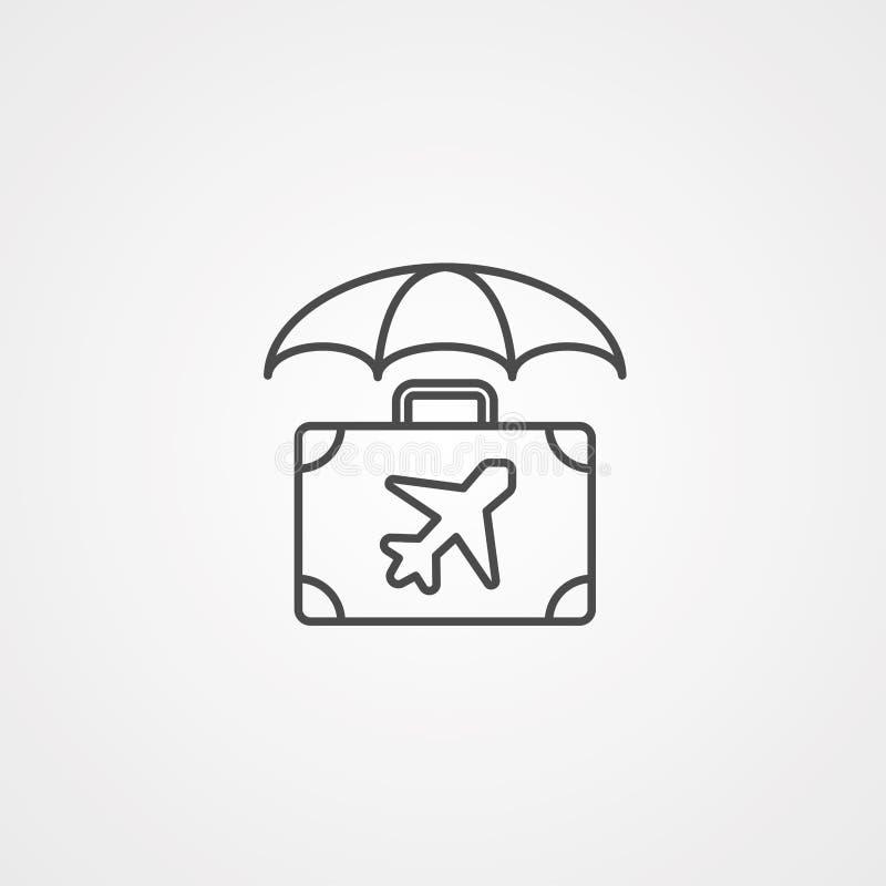旅行保险传染媒介象标志标志 库存例证
