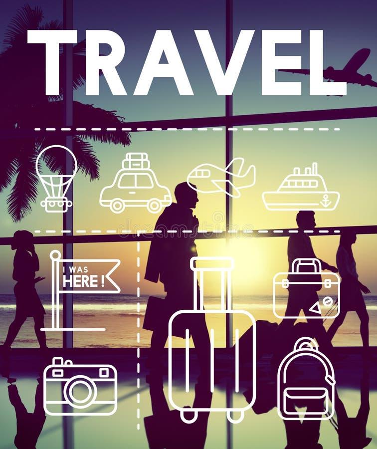 旅行假日旅途探险图表概念 库存图片