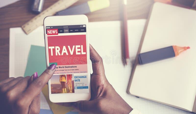 旅行假期假日目的地旅途数字式概念 免版税库存图片