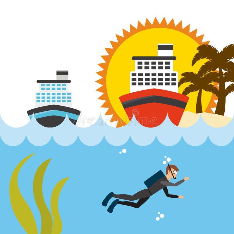 Download 旅行假期 向量例证. 插画 包括有 潜水, 图标, 要素, 晒裂, 极其, 火箭筒, 晴朗, 钞票, 浏览 - 59101715