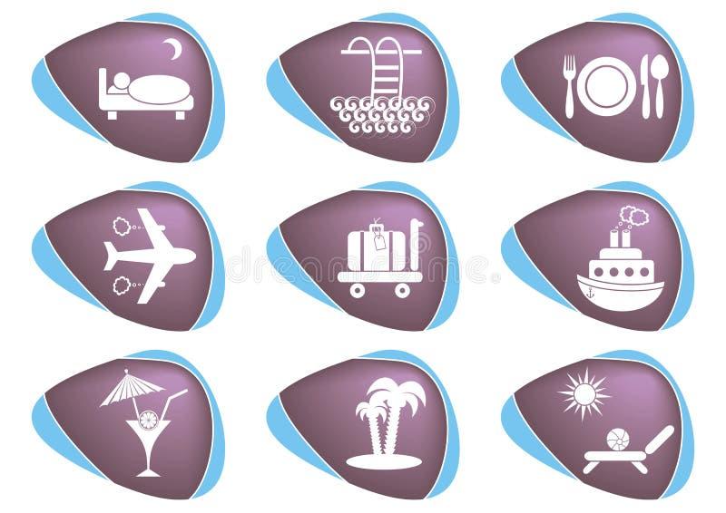 旅行和便利设施图标 向量例证