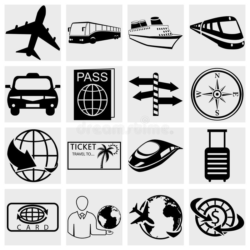 旅行和旅游业象集合。 Simplus系列。 Vecto 库存例证