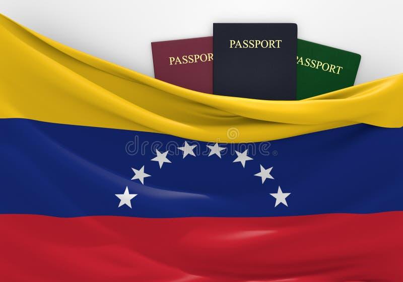 旅行和旅游业在委内瑞拉,有被分类的护照的 皇族释放例证
