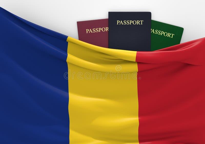 旅行和旅游业在罗马尼亚,有被分类的护照的 皇族释放例证