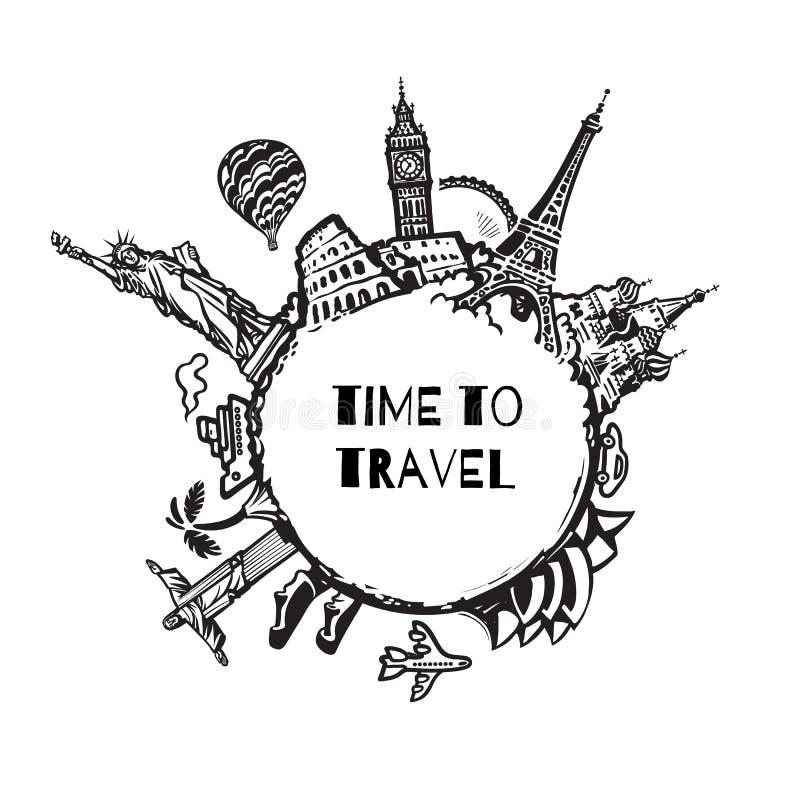旅行和旅游业背景 向量例证