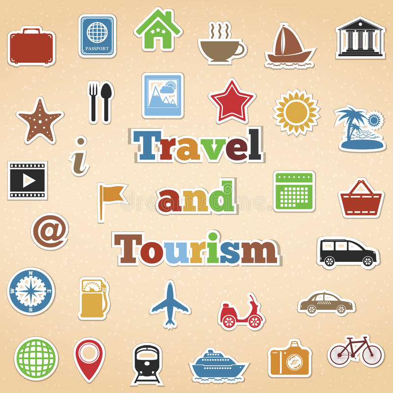 旅行和旅游业象 向量例证