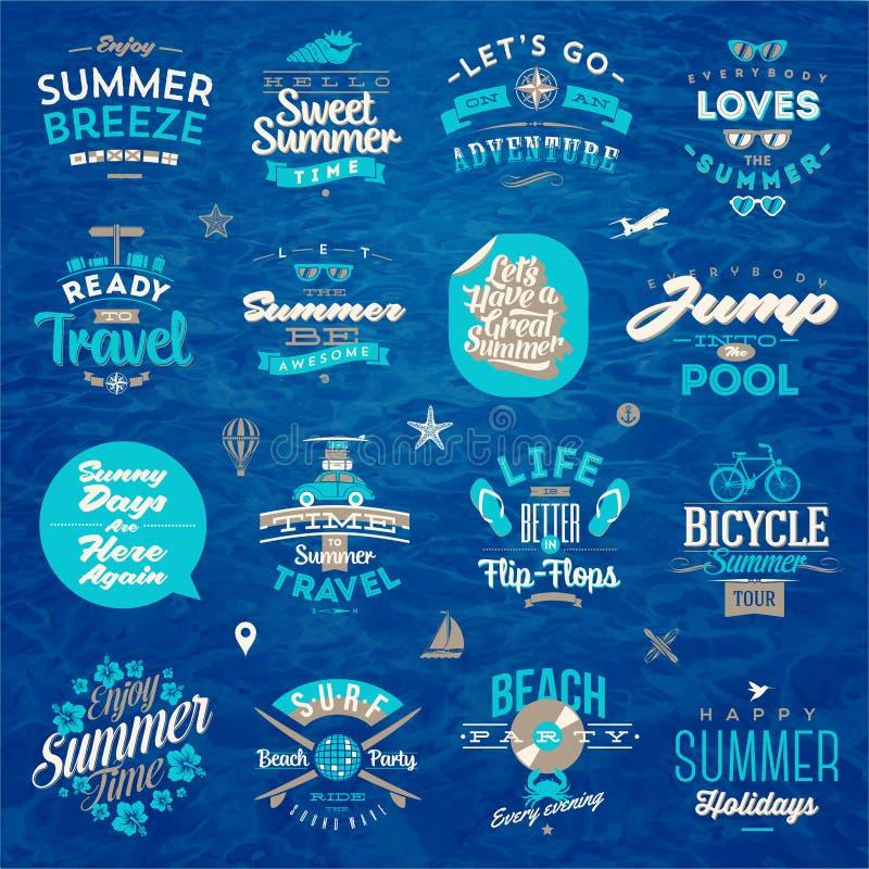 旅行和暑假类型设计 皇族释放例证