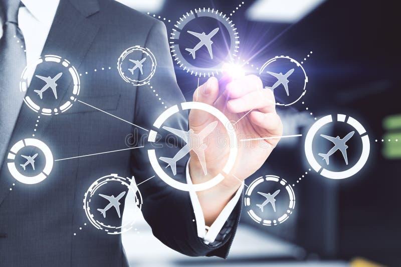 旅行和网上售票概念 免版税库存图片