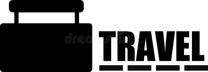 旅行商标或Clipart黑色颜色 库存图片