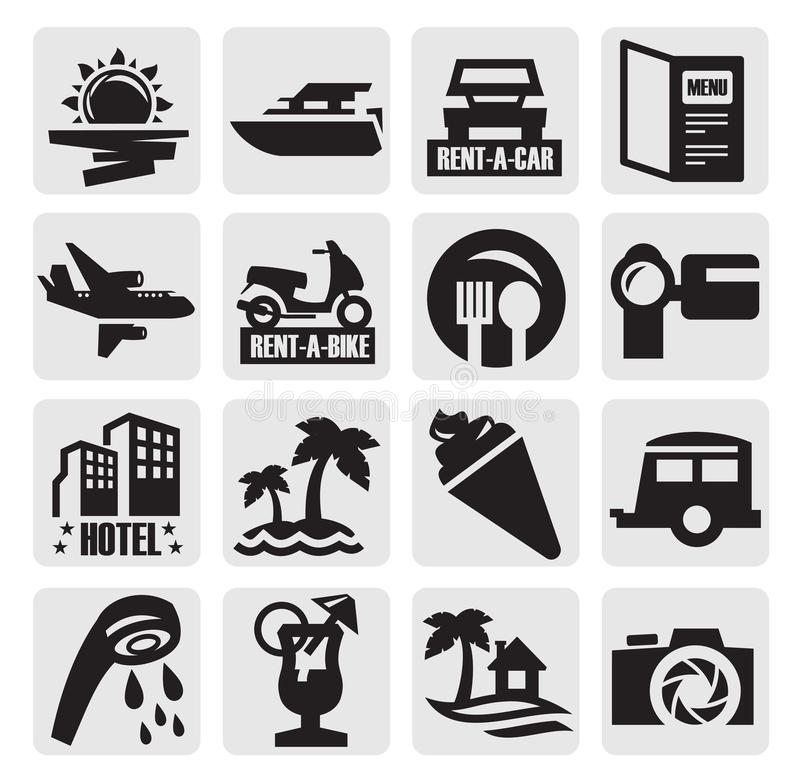 旅行图标 库存例证