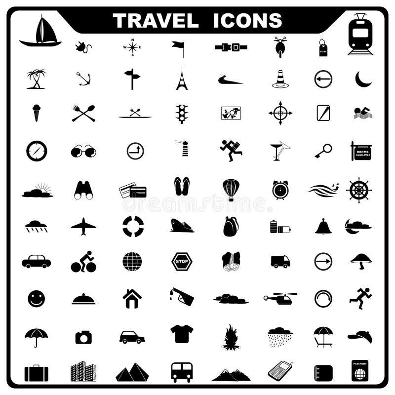 旅行图标 向量例证