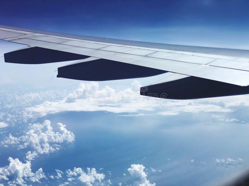 旅行在天空中 图库摄影
