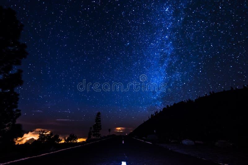 旅行在晚上 库存照片