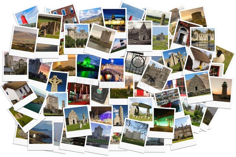 旅行在爱尔兰 拼贴画由人造偏光板制成 免版税库存照片