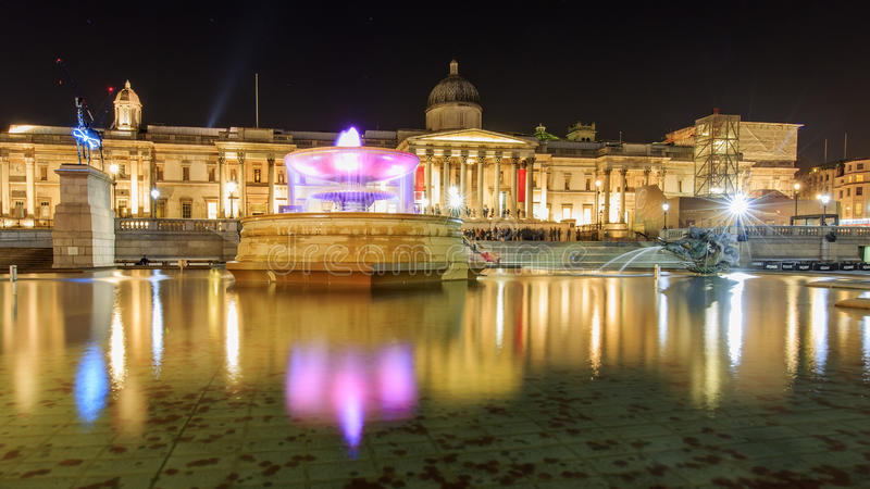 旅行在著名特拉法加广场,伦敦,英国 免版税图库摄影