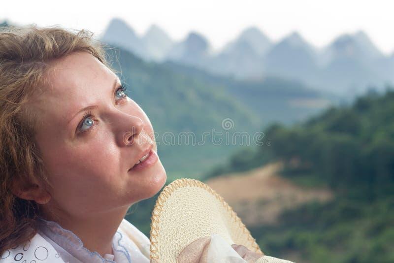旅行在阳朔中国山,桂林,中国,亚洲 库存照片
