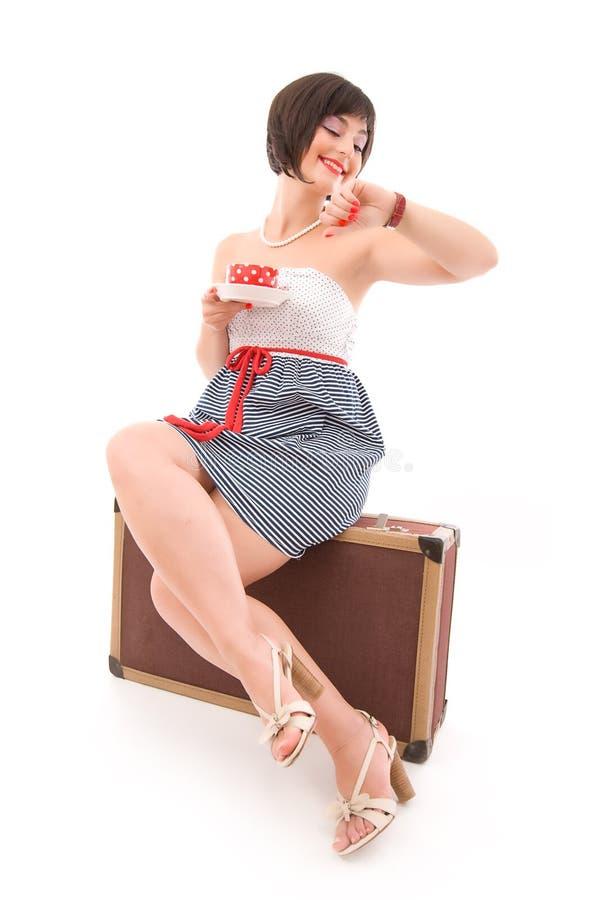 旅行家妇女年轻人 免版税图库摄影