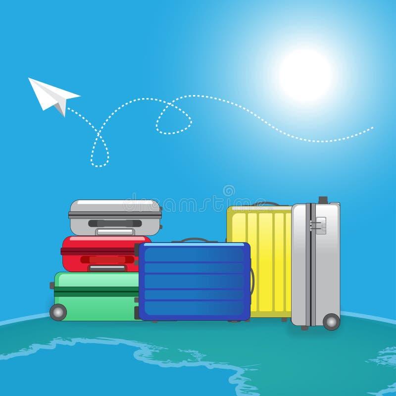 旅行家行李袋子 向量例证