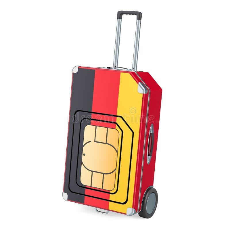 旅行希姆,漫游和旅行在德国,3D翻译 库存例证