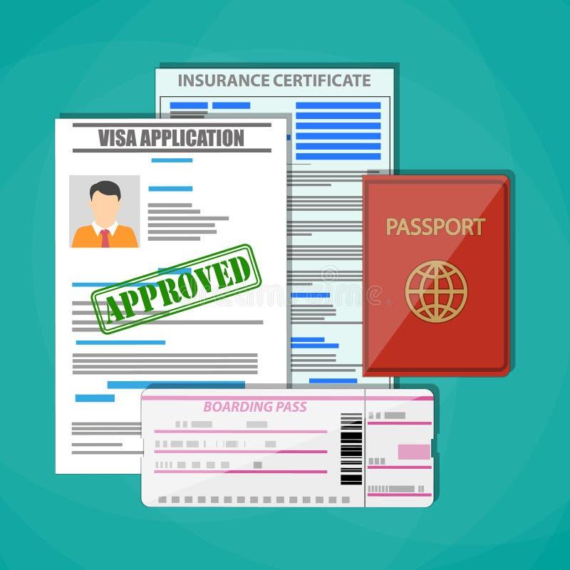 旅行文件概念 皇族释放例证
