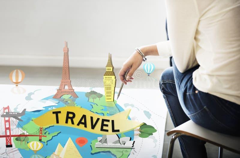 旅行旅行的假期假日旅途冒险概念 免版税图库摄影