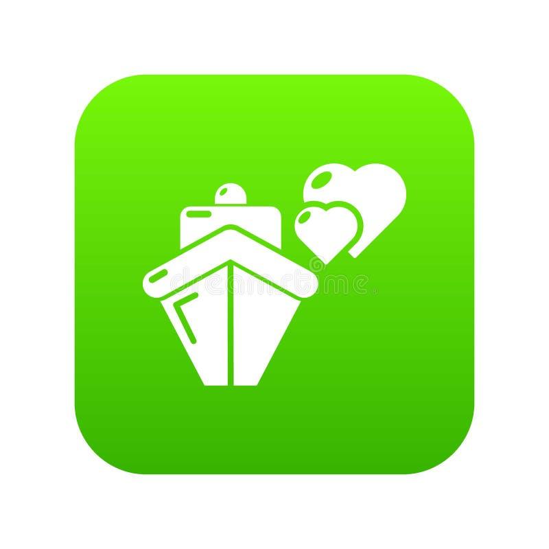 旅行旅途蜜月旅行象绿色传染媒介 库存例证