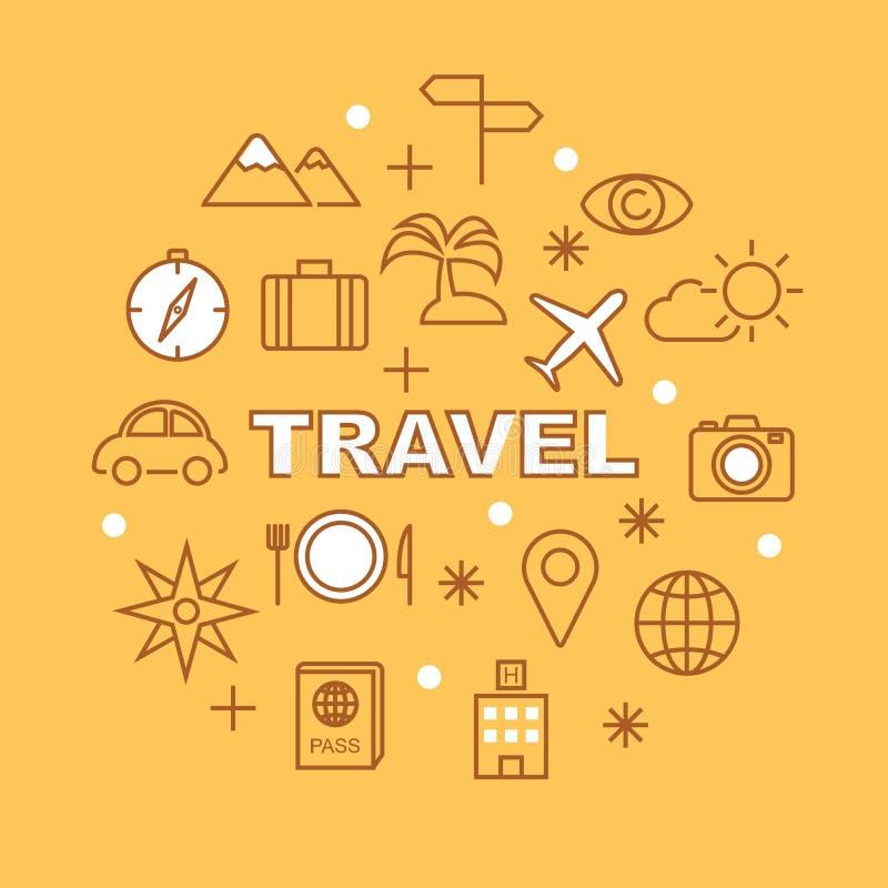旅行最小的概述象 库存例证