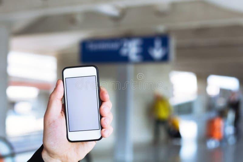 旅行机动性应用 库存图片