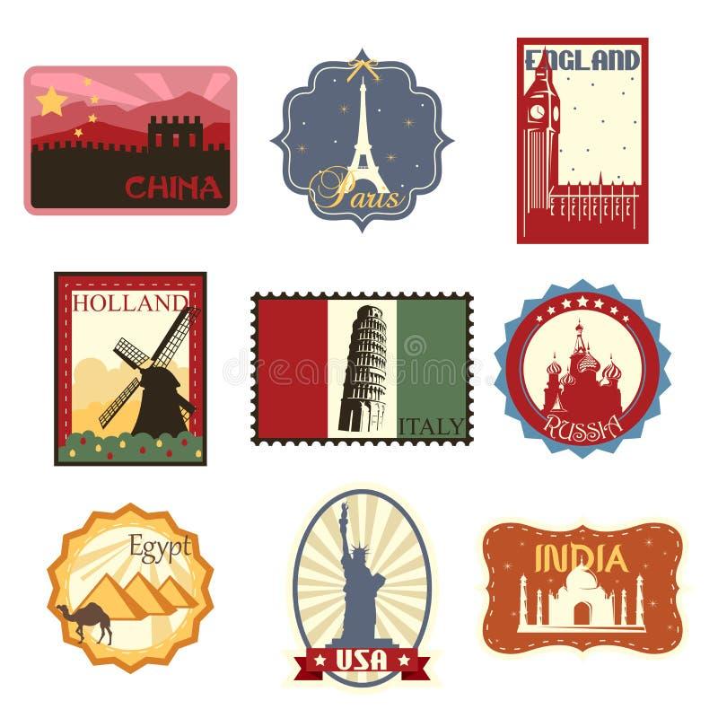 旅行标签或徽章 向量例证