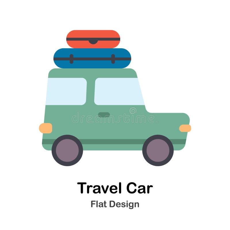 旅行汽车平的例证 向量例证