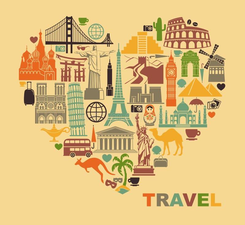 旅行爱  库存例证