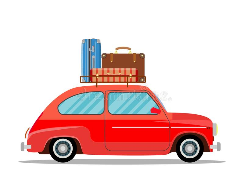 旅行的汽车 向量例证